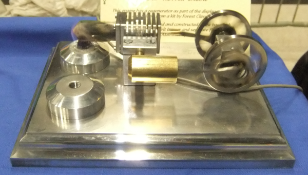 Stirling engine, from a kit supplied by Forest Classics
