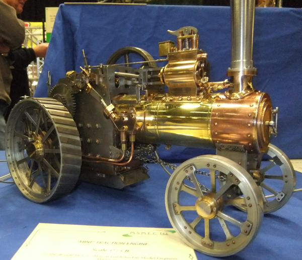 """MINI"" TRACTION ENGINE. Scale 1"" : 1 ft."