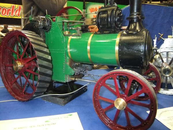 "BURRELL TRACTION ENGINE Scale: 1 1⁄2"" : 1 ft."