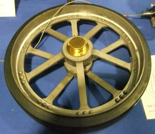 Burrell agricultural traction engine front wheel