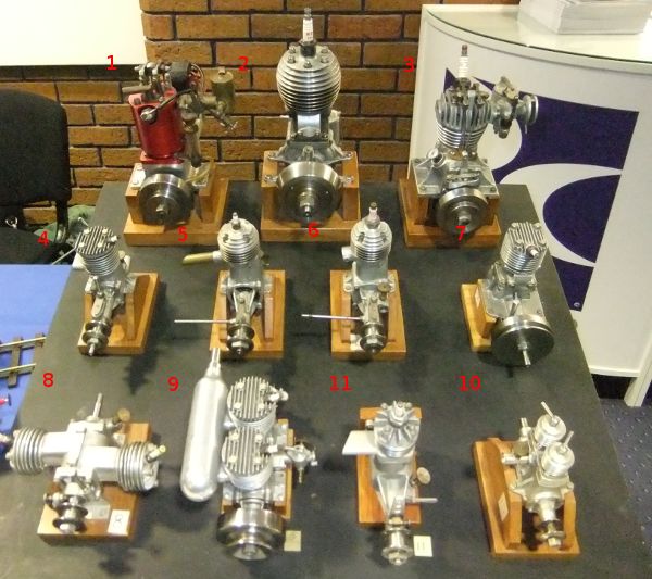 A collection of 11 I.C. engines were designed by Edgar. T. Westbury